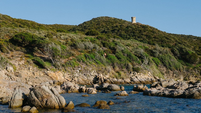 An inlet near Cupabia Beach in South Corsica