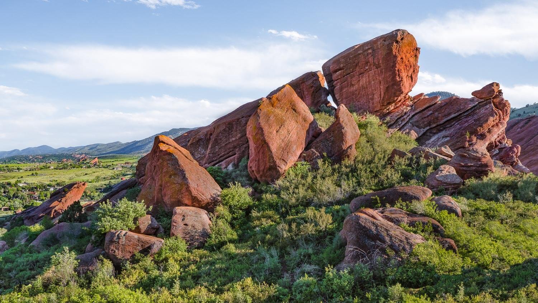 "Red Rocks, Denver.  Travel photography and guide by © Natasha Lequepeys for ""And Then I Met Yoko"". #colorado #usa #travelguide #landscapephotography #coloradoitinerary #fujifilm #redrocksamphitheatre"