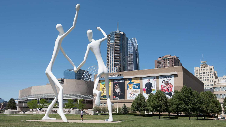 White alien statues in Denver