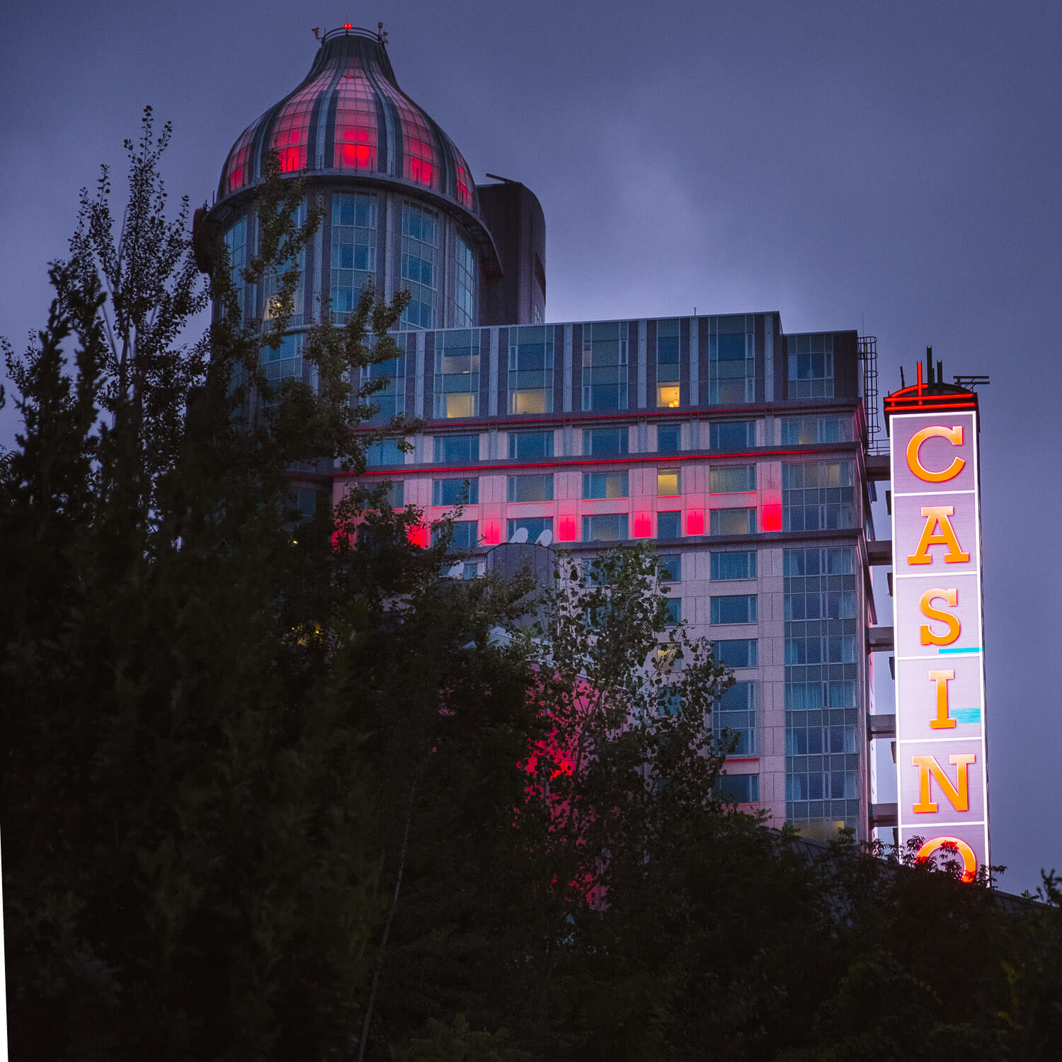 The Fallsview Casino at night