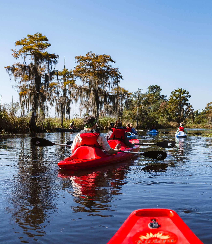 "Kayaking on the Bayou - Travel photography and guide by © Natasha Lequepeys for ""And Then I Met Yoko"". #neworleans #nola #photoblog #travelitinerary #fujifilm #naturephotography"