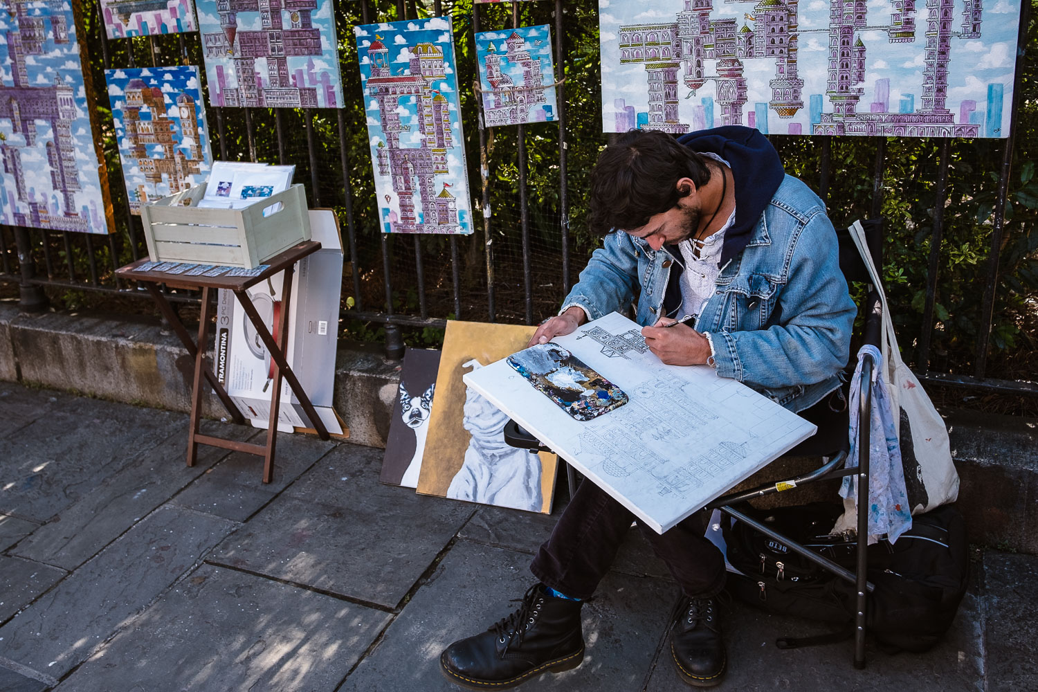 """An Artist at work - Travel photography and guide by © Natasha Lequepeys for """"And Then I Met Yoko"""". #neworleans #nola #photoblog #streetphotography #travelitinerary #fujifilm"""