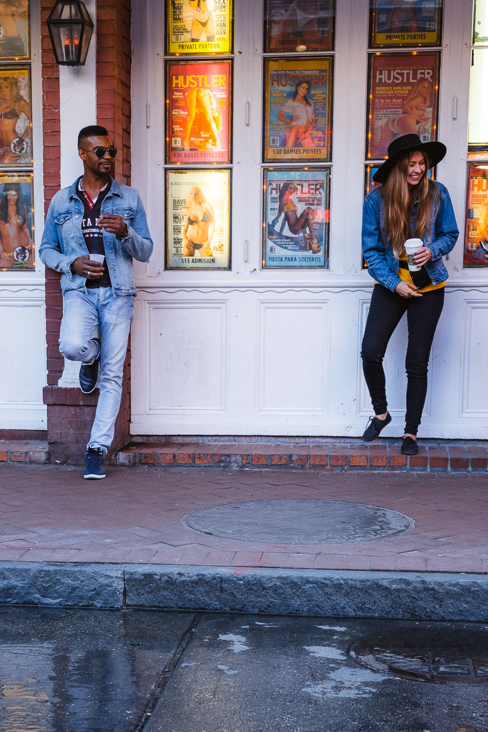 """Hanging out on Bourbon Street - Travel photography and guide by © Natasha Lequepeys for """"And Then I Met Yoko"""". #neworleans #nola #photoblog #streetphotography #travelitinerary #fujifilm"""