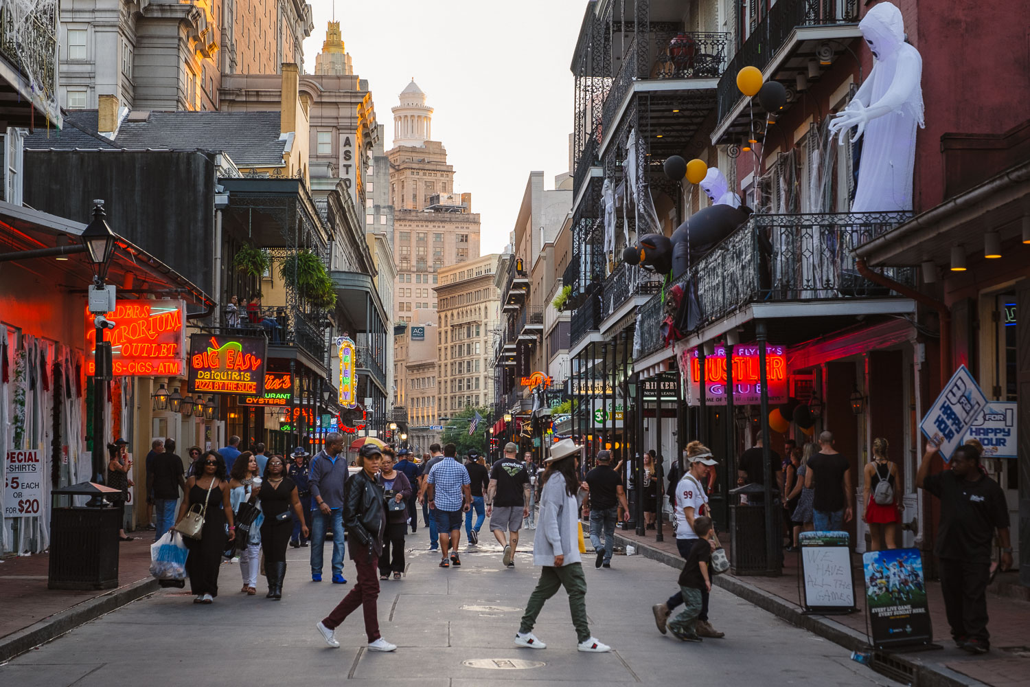 """Golden Hour on Bourbon Street - Travel photography and guide by © Natasha Lequepeys for """"And Then I Met Yoko"""". #neworleans #nola #photoblog #streetphotography #travelitinerary #fujifilm"""