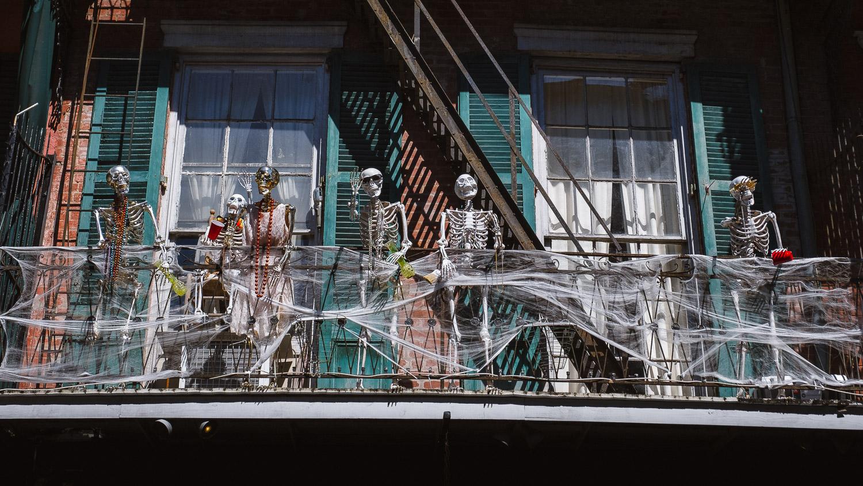 "Skeleton Halloween decoration. Travel photography and guide by © Natasha Lequepeys for ""And Then I Met Yoko"". #neworleans #nola #travelguide #photoblog #travelblog #travelphotography #travelitinerary #fujifilm #usa #visitnola #weekendgetaway #travel #neworleans3dayitinerary #streetphotography #halloween #decoration #skeleton #nolahalloween #spooky #nolahouse"