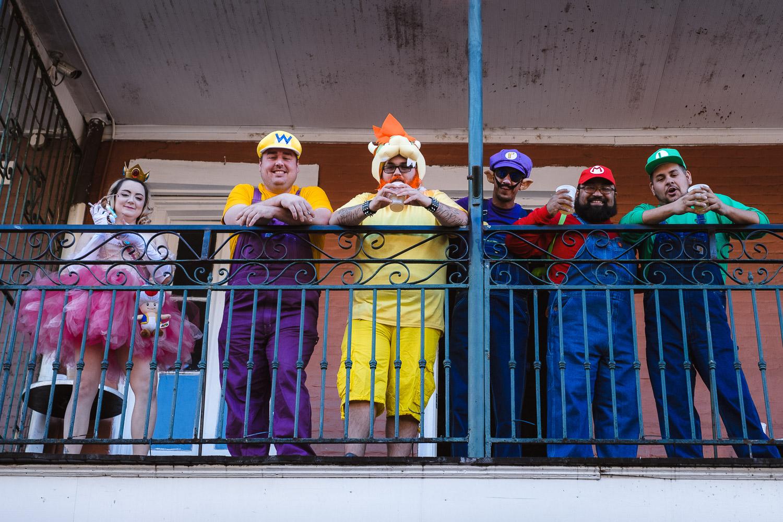 "Mario characters on Bourbon Street- Travel photography and guide by © Natasha Lequepeys for ""And Then I Met Yoko"". #neworleans #nola #photoblog #travelitinerary #fujifilm #halloween #streetphotography"