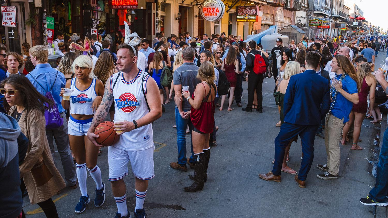 "Golden Hour on Bourbon Street - Travel photography and guide by © Natasha Lequepeys for ""And Then I Met Yoko"". #neworleans #nola #photoblog #travelitinerary #fujifilm #halloween #streetphotography"