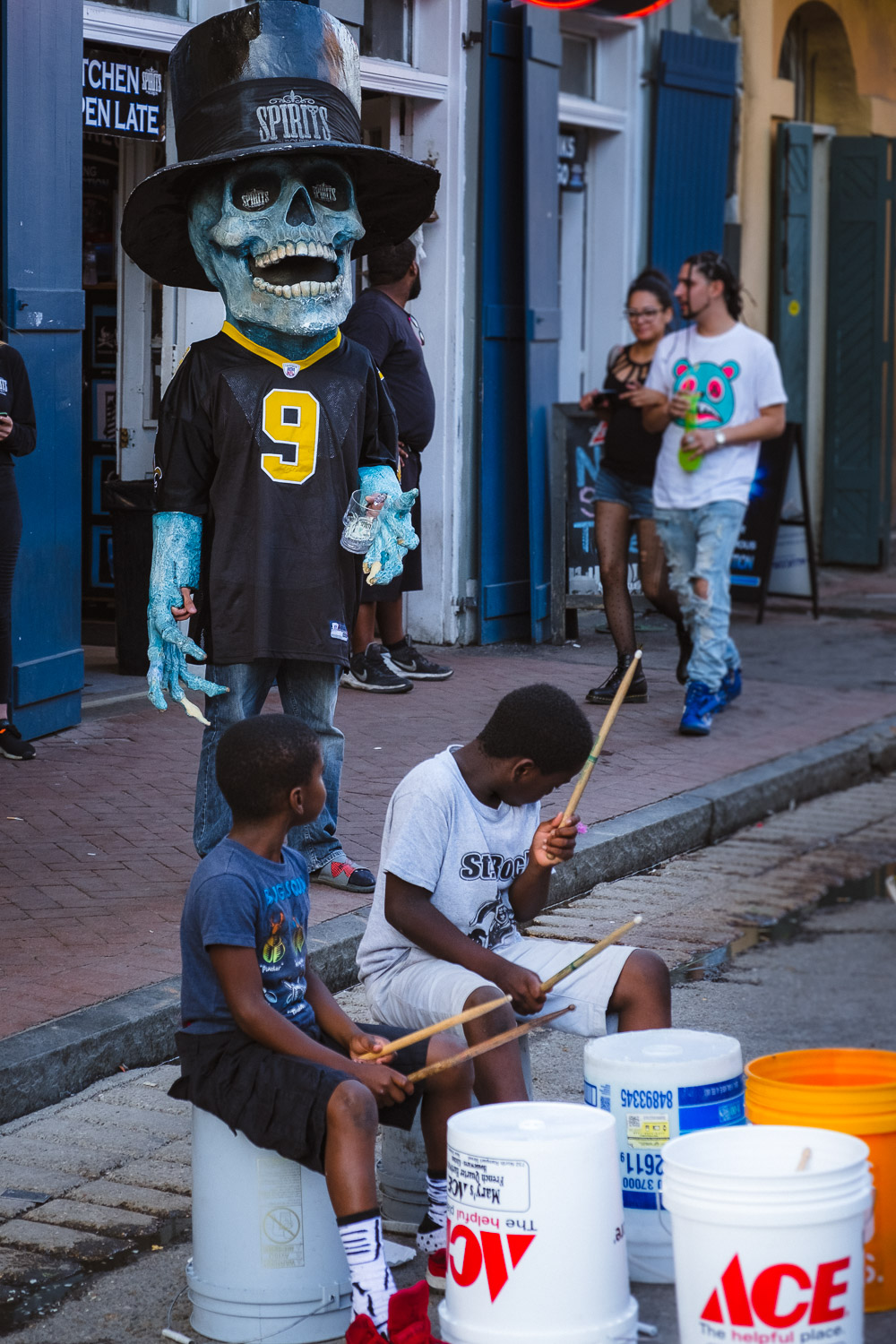 """Halloween in the French Quarter - Travel photography and guide by © Natasha Lequepeys for """"And Then I Met Yoko"""". #neworleans #nola #photoblog #streetphotography #travelitinerary #fujifilm"""