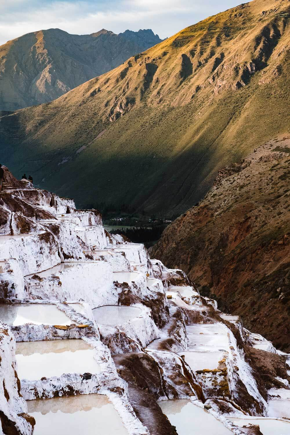 """The Maras Salt Ponds in The Sacred Valley, Peru. Travel photography and guide by © Natasha Lequepeys for """"And Then I Met Yoko"""". #travelblog #fujifilm #sacredvalleyitinerary"""