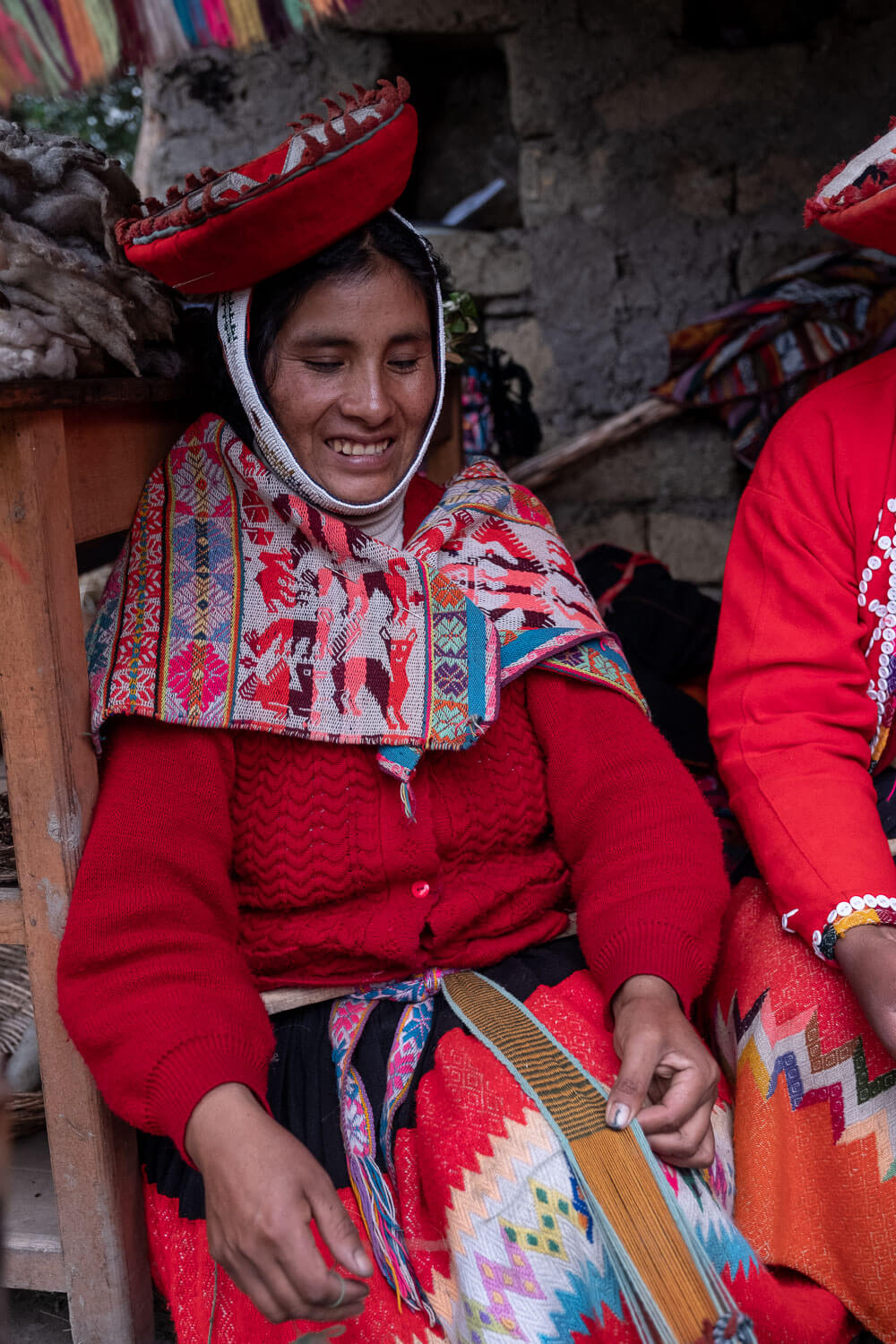 """A weaving demonstration in the village of Patacancha, The Sacred Valley, Peru. Travel photography and guide by © Natasha Lequepeys for """"And Then I Met Yoko"""". #peru #sacredvalley #patacancha #photoblog #travelblog #travelphotography #portraitphotography #travelitinerary #fujifilm #weaving #tradition #culture #people #andes #village #weavingdemonstration #cusco #ollantaytambo #travel #travelperu"""