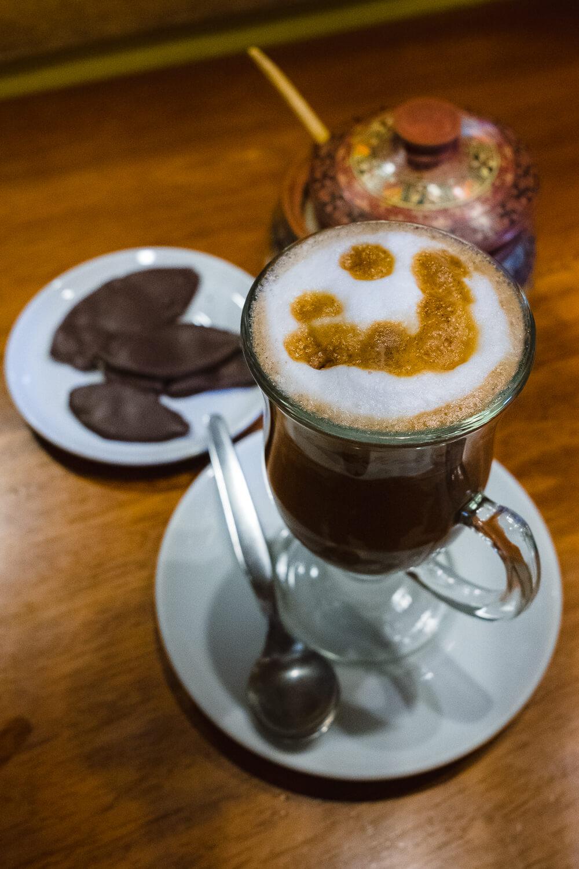 Mocha and chocolate