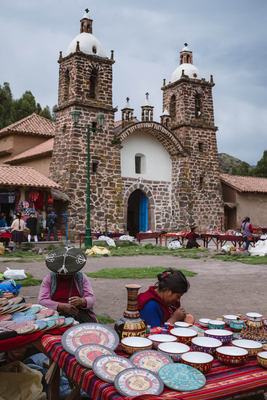 "The market in Raqch'i. Travel photography and guide by © Natasha Lequepeys for ""And Then I Met Yoko"". #peru #sacredvalley #cusco #laketiticaca #belmondandeanexplorer #perurail #perutrain #luxurytravel #sleepertrain #photoblog #travelblog #travelphotography #fujifilm #andes #travel #travelperu #cuscotolaketiticaca #spiritofthelake #belmond #puno #southamerica"