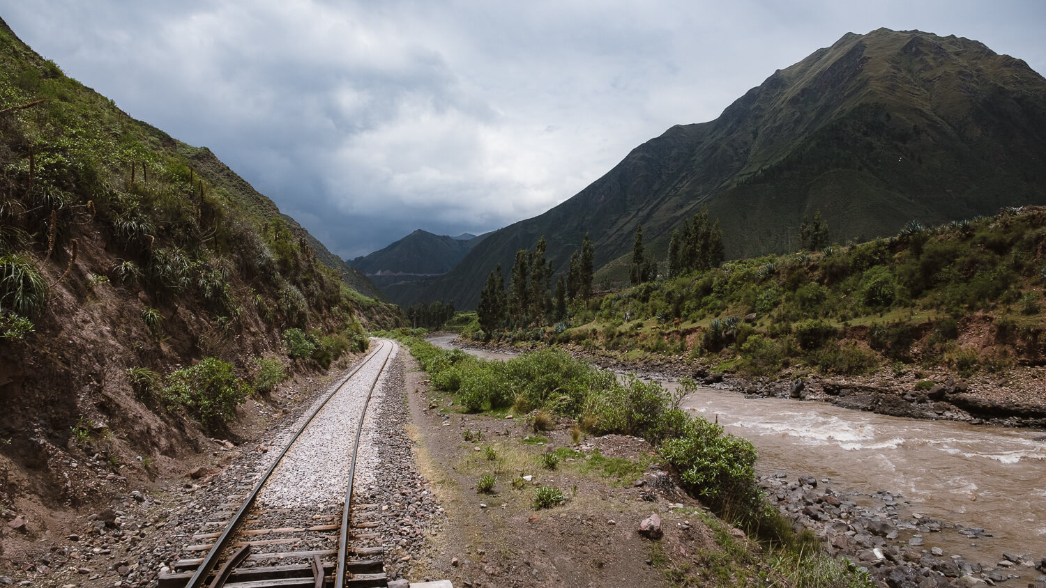 """Views from the back of the train on the Belmond Andean Explorer. Travel photography and guide by © Natasha Lequepeys for """"And Then I Met Yoko"""". #peru #sacredvalley #cusco #laketiticaca #belmondandeanexplorer #perurail #perutrain #luxurytravel #sleepertrain #photoblog #travelblog #travelphotography #fujifilm #andes #travel #travelperu #cuscotolaketiticaca #spiritofthelake #belmond #puno #southamerica"""