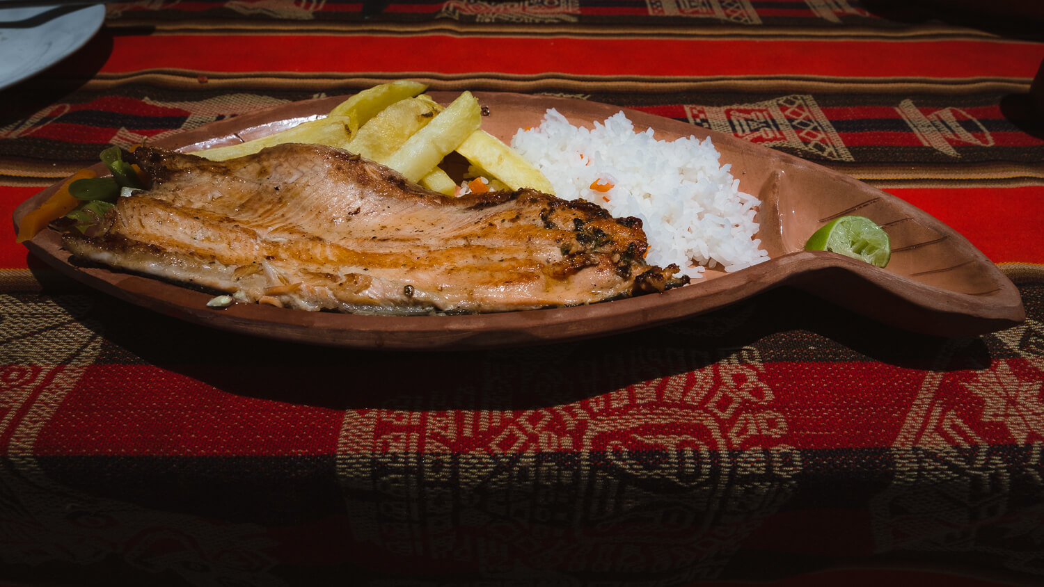 """Trout for lunch, Taquile Island. Travel photography and guide by © Natasha Lequepeys for """"And Then I Met Yoko"""". #peru #laketiticaca #amantani #taquile #homestay #culturalexperience #photoblog #travelblog #travelphotography #fujifilm #travel #travelperu #southamerica #allwaystravel #laketiticacaitinerary #puno #uros #floatingislands #pachamama #pachatata"""