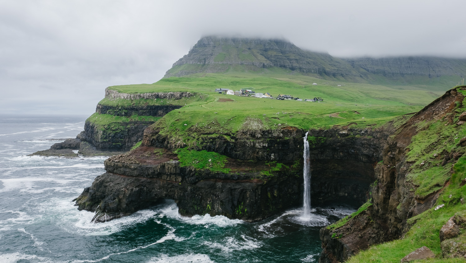 Mulafossur Falls in the Faroe Islands © Natasha Lequepeys for And Then I Met Yoko #travelguide #travelphotography #travel