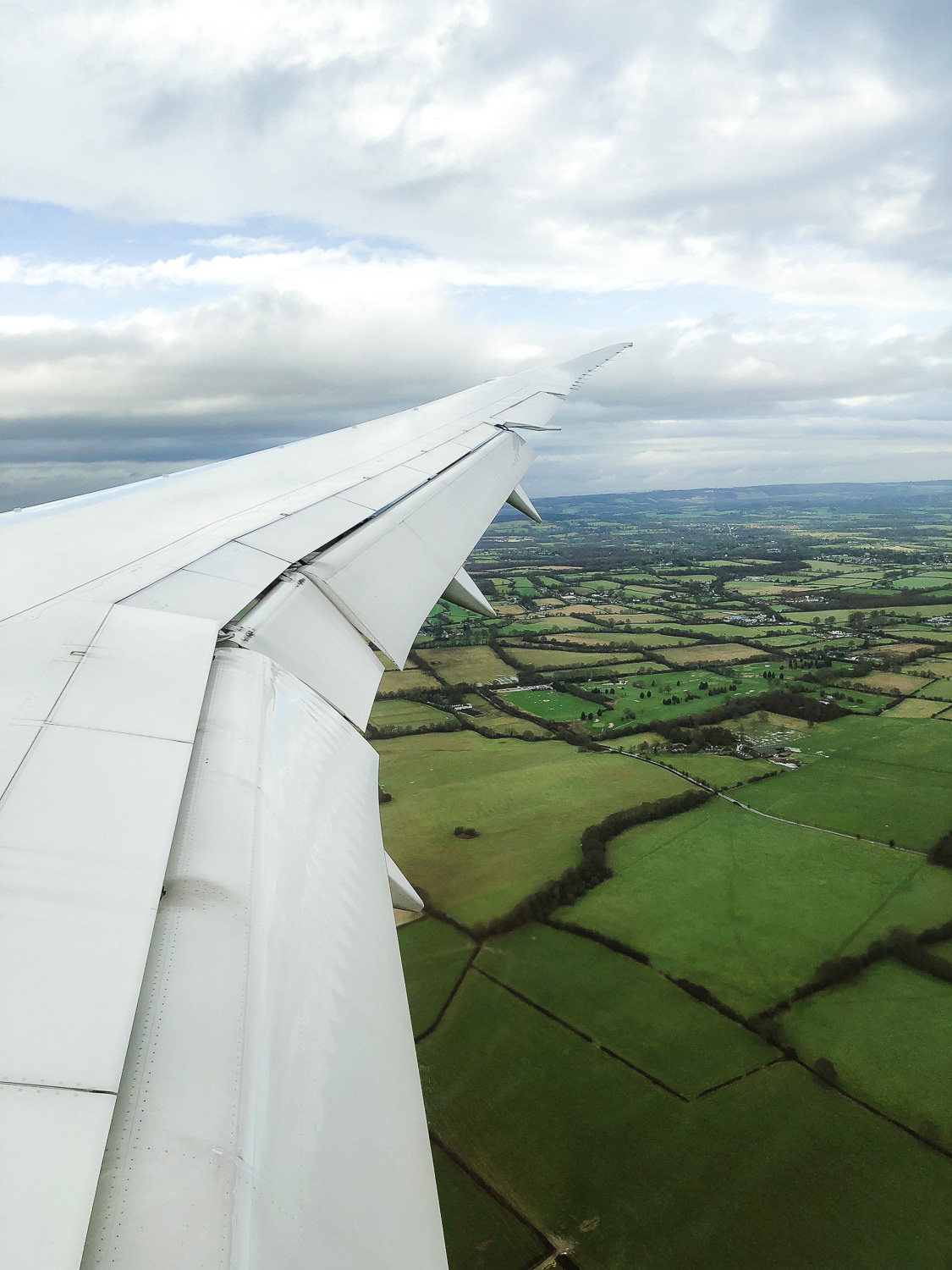 Flying over the English countryside