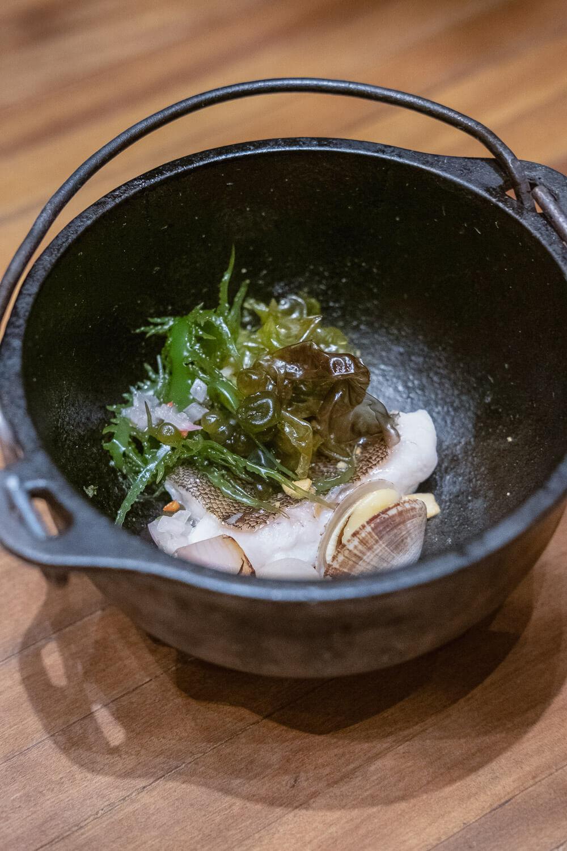 Maido: Suado - Catch of the day, sudado reduction, seaweed