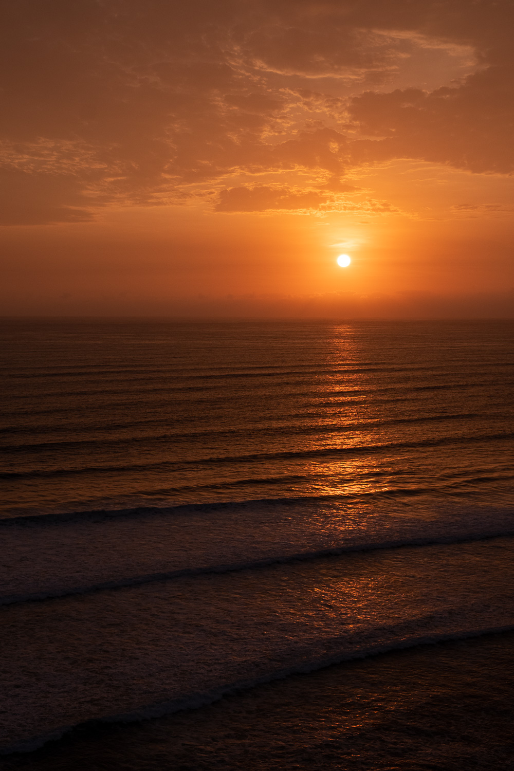 """Sunset over the Pacific Ocean in Lima, Peru. Travel photography and guide by © Natasha Lequepeys for """"And Then I Met Yoko"""". #photoblog #travelblog #travelperu"""