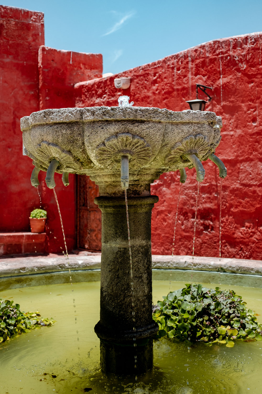 """A fountain in the Santa Catalina Monastery, Arequipa. Travel photography and guide by © Natasha Lequepeys for """"And Then I Met Yoko"""". #peru #photoblog #fujifilm"""