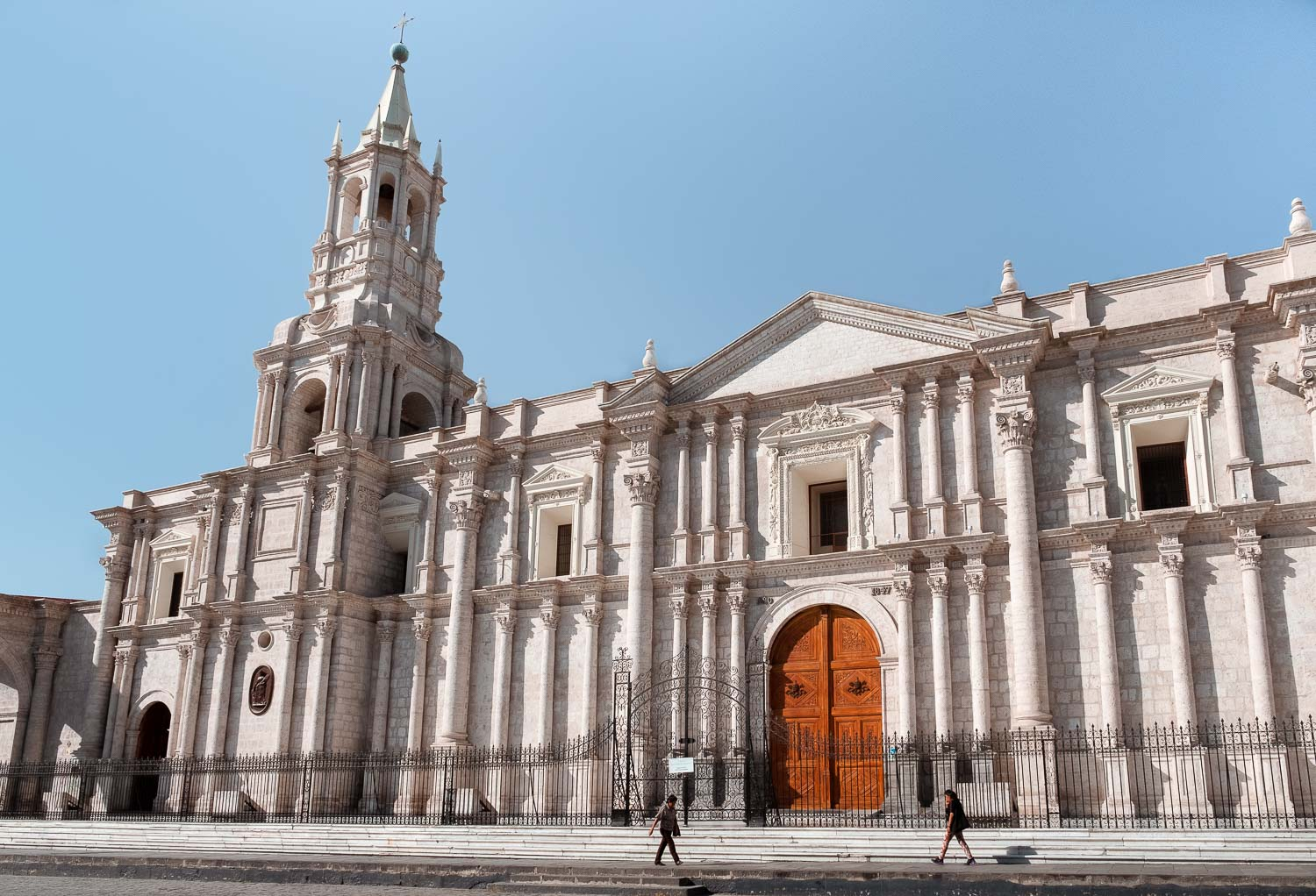 """La Cathedral in Arequipa, Peru. Travel photography and guide by © Natasha Lequepeys for """"And Then I Met Yoko"""". #peru #photoblog #fujifilm"""