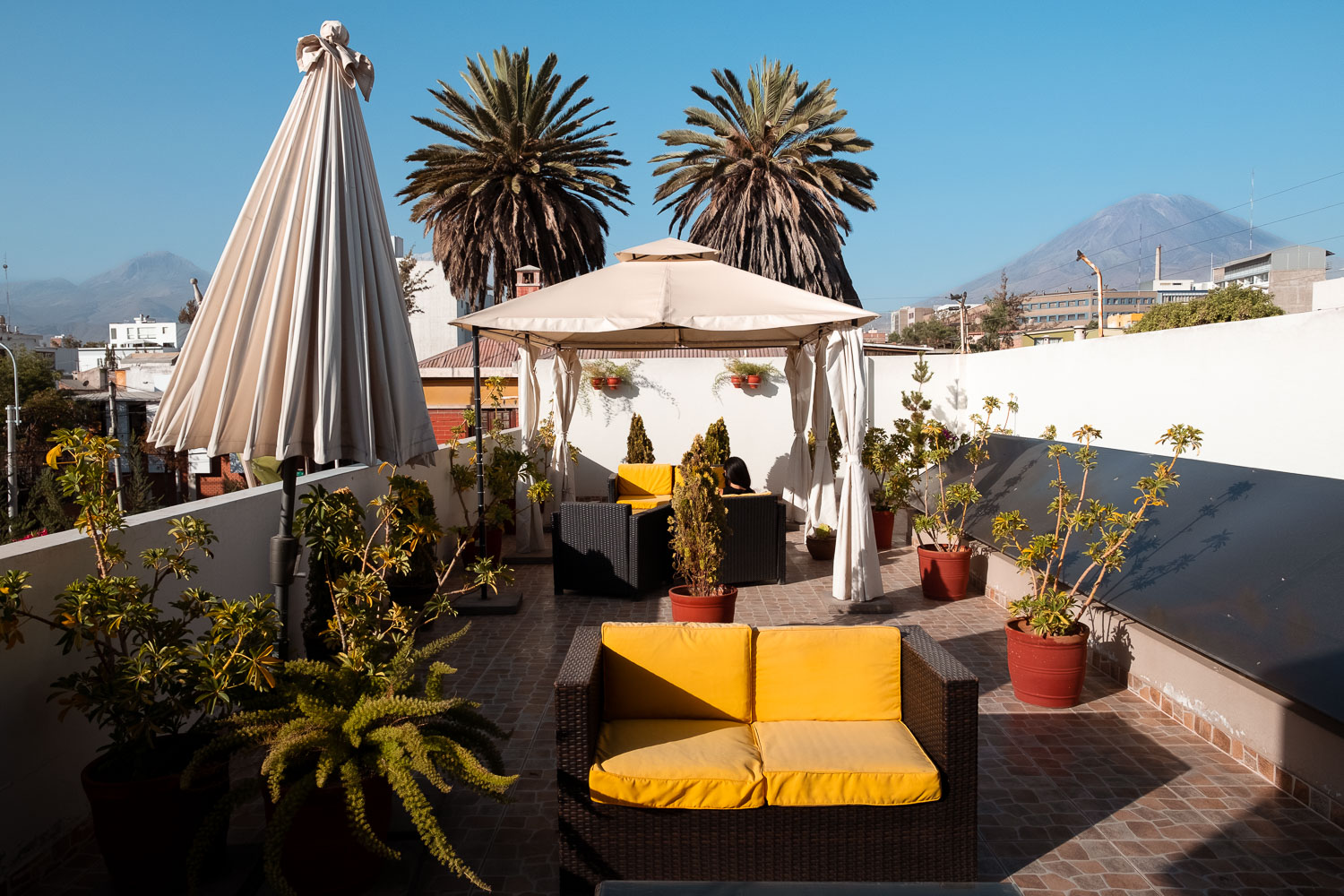 """Rooftop of Beausejour Boutique Hotel Arequipa, Peru. Travel photography and guide by © Natasha Lequepeys for """"And Then I Met Yoko"""". #peru #photoblog #fujifilm"""