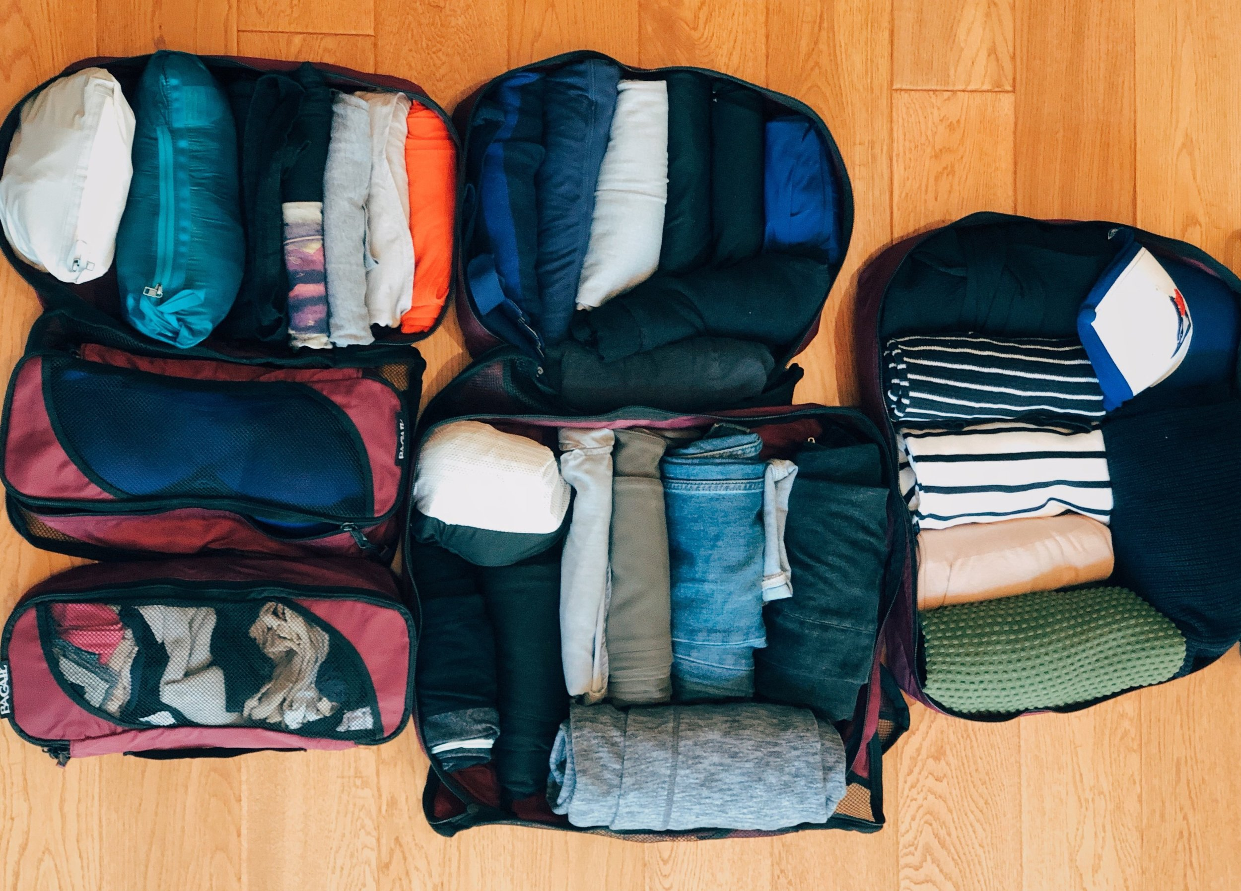 Packing cubes for organization. #packinglist #peru #packinglistforperu