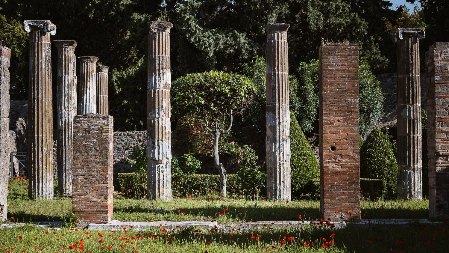 """A garden in Pompeii. Travel photography and guide by © Natasha Lequepeys for """"And Then I Met Yoko"""". #pompeii #italy #fujifilm #travelphotography"""