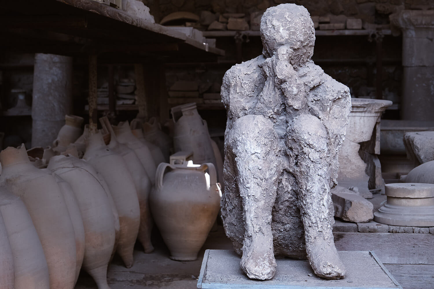 """The cast of a victim of Pompeii. Travel photography and guide by © Natasha Lequepeys for """"And Then I Met Yoko"""". #pompeii #italy #fujifilm #travelphotography"""