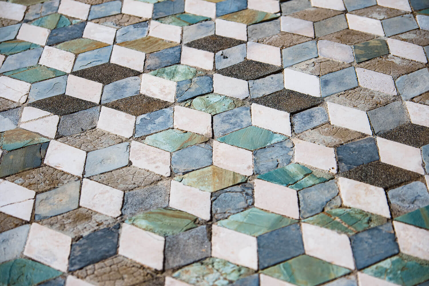 """3D geometric tiles in Pompeii. Travel photography and guide by © Natasha Lequepeys for """"And Then I Met Yoko"""". #pompeii #italy #fujifilm #travelphotography"""
