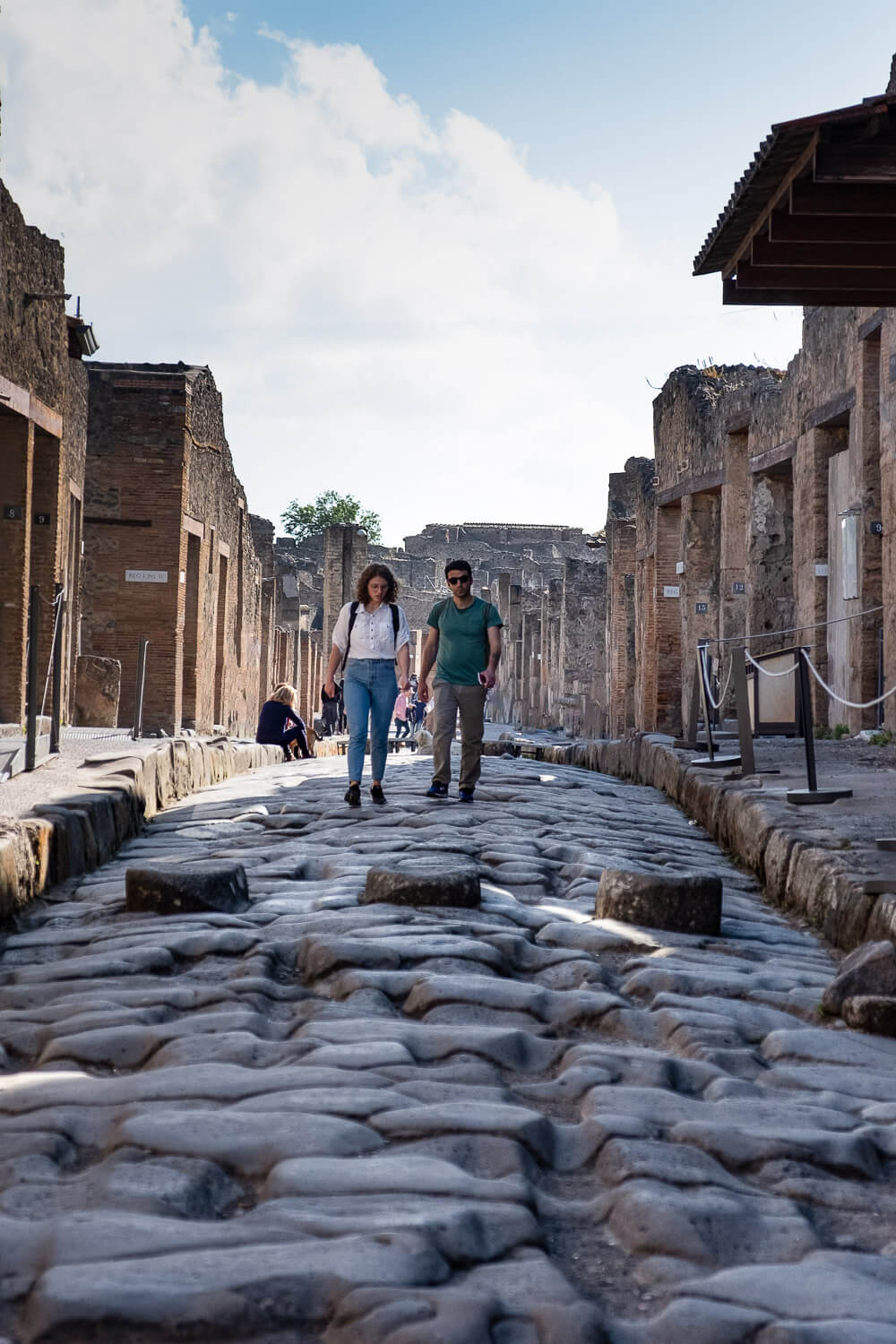 """A crosswalk in Pompeii. Travel photography and guide by © Natasha Lequepeys for """"And Then I Met Yoko"""". #pompeii #italy #fujifilm #travelphotography"""