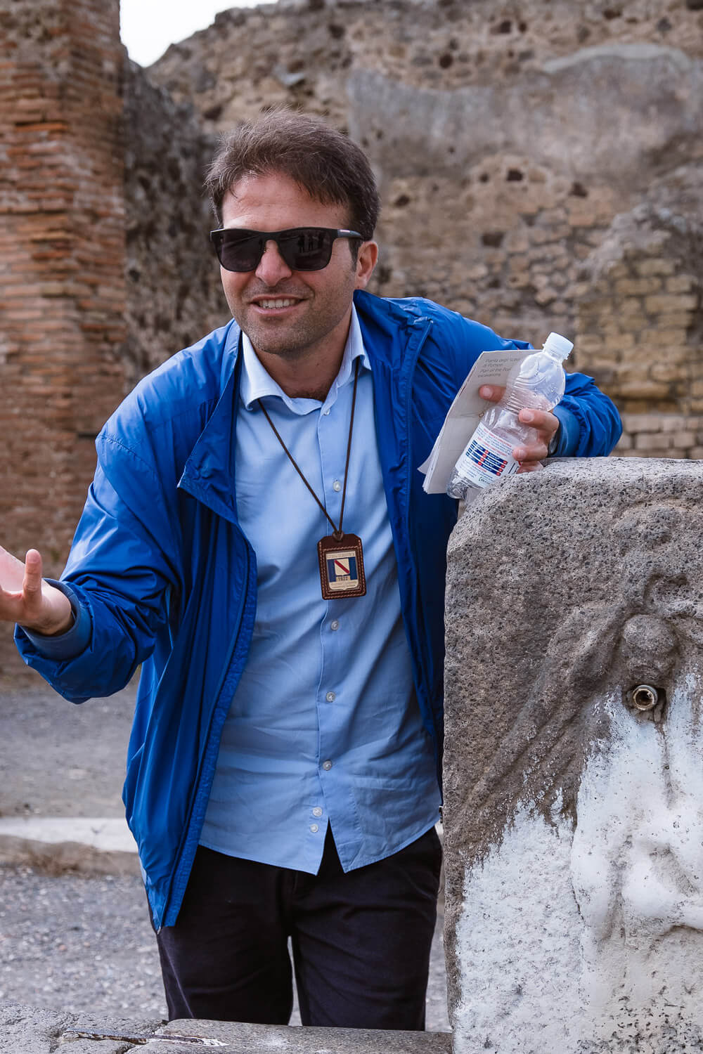 """Private tour guide of Pompeii, Paolo. Travel photography and guide by © Natasha Lequepeys for """"And Then I Met Yoko"""". #pompeii #italy #fujifilm #travelphotography"""