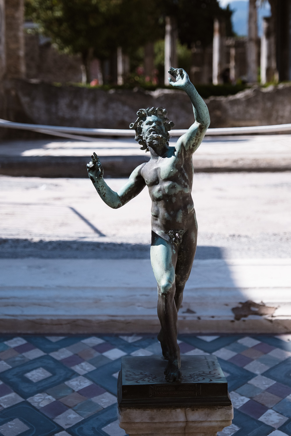 """The faun statue, Pompeii. Travel photography and guide by © Natasha Lequepeys for """"And Then I Met Yoko"""". #pompeii #italy #fujifilm #travelphotography"""