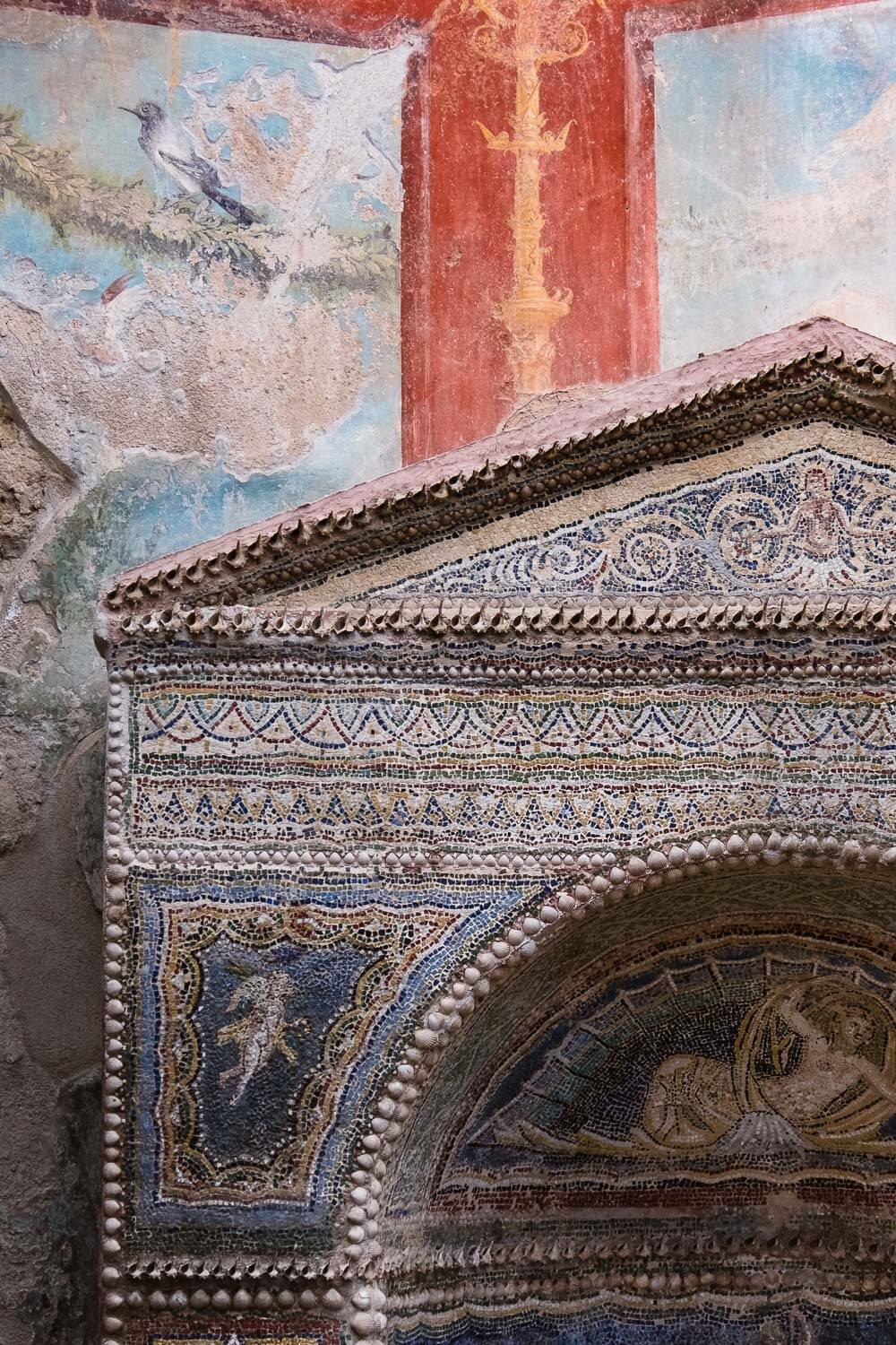"""Intricate frescoes and mosaics, Pompeii. Travel photography and guide by © Natasha Lequepeys for """"And Then I Met Yoko"""". #pompeii #italy #fujifilm #travelphotography"""