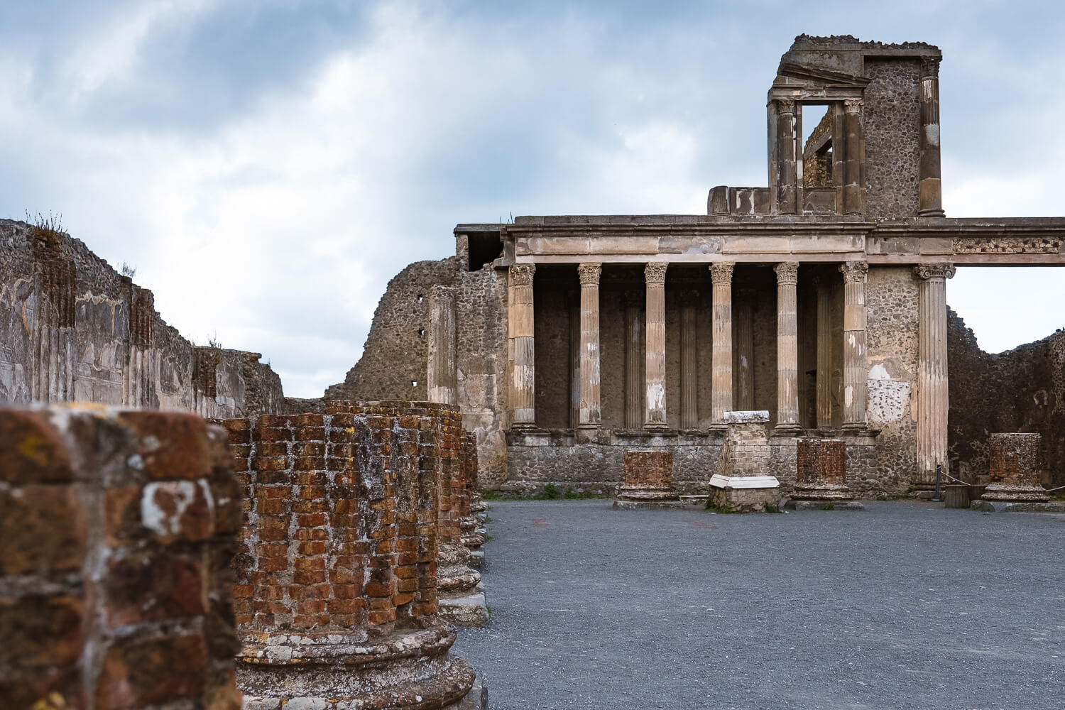 """The Basilica in the forum of Pompeii, Italy. Travel photography and guide by © Natasha Lequepeys for """"And Then I Met Yoko"""". #pompeii #italy #fujifilm #travelphotography"""