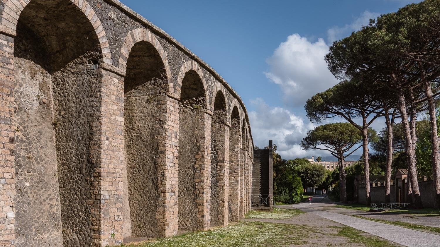 """Outside of the amphitheater in Pompeii. Travel photography and guide by © Natasha Lequepeys for """"And Then I Met Yoko"""". #pompeii #italy #fujifilm #travelphotography"""