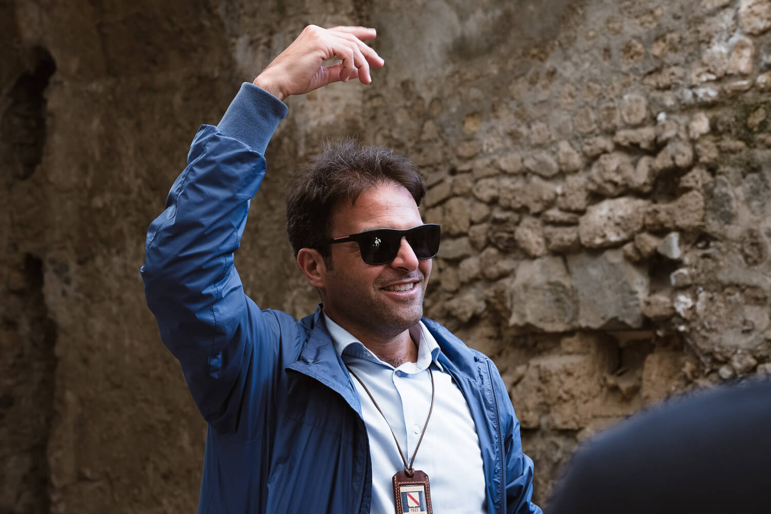 """Licensed tour guide, Paolo for Pompeii. Travel photography and guide by © Natasha Lequepeys for """"And Then I Met Yoko"""". #pompeii #italy #fujifilm #travelphotography"""