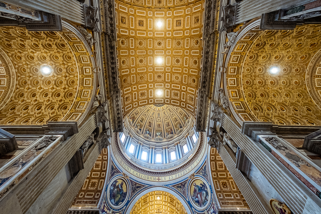 "Inside St. Peter's Basilica, The Vatican. Travel photography and guide by © Natasha Lequepeys for ""And Then I Met Yoko"""