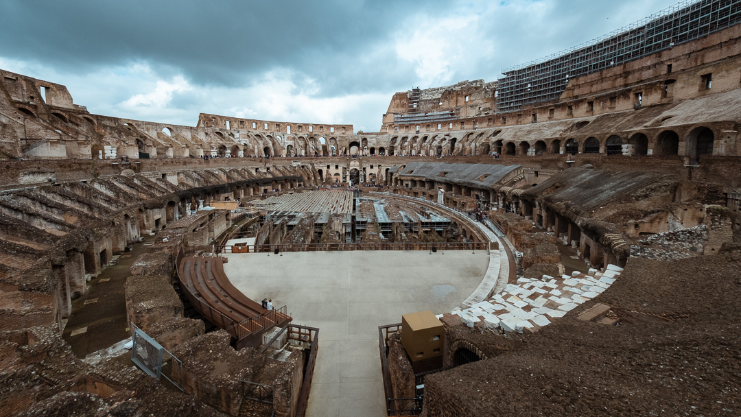 "Inside the Colosseum, Rome. Travel photography and guide by © Natasha Lequepeys for ""And Then I Met Yoko"""