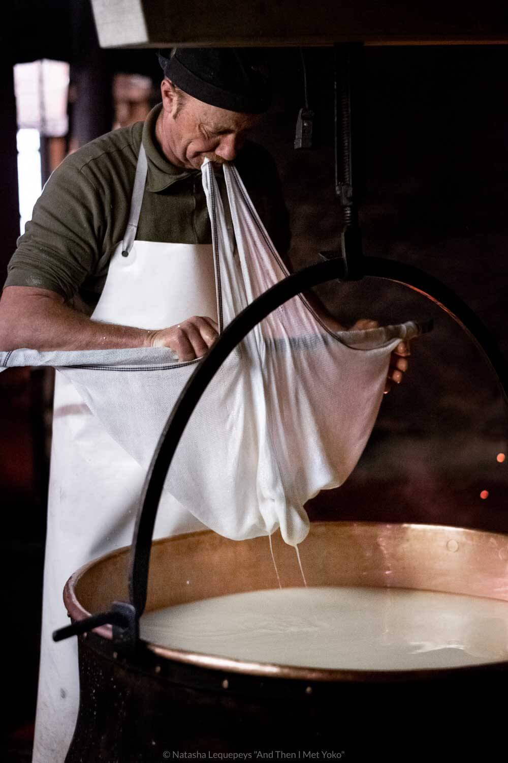 "Alpine cheese making in Moleson-sur-Gruyères, Switzerland. Travel photography and guide by © Natasha Lequepeys for ""And Then I Met Yoko"". #gruyeres #switzerland #travelguide #travelphotography"