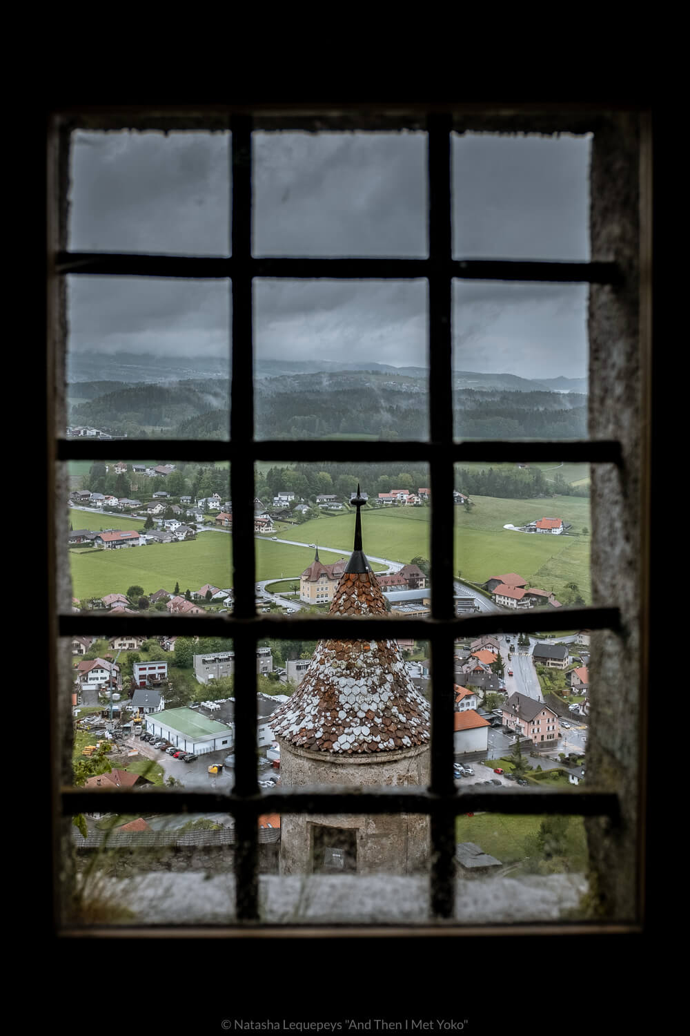 "Views from the Château de Gruyères, Switzerland. Travel photography and guide by © Natasha Lequepeys for ""And Then I Met Yoko"". #gruyere #switzerland #travelguide #travelphotography"
