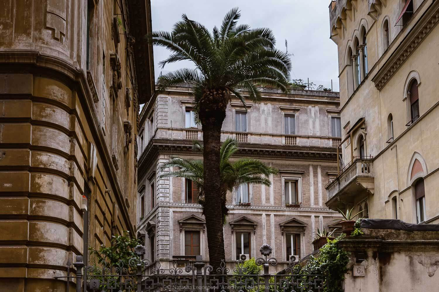 """Buildings in the Jewish Ghetto, Rome. Travel photography and guide by © Natasha Lequepeys for """"And Then I Met Yoko"""". #rome #jewishghettorome #italy #fujifilm #travelphotography"""