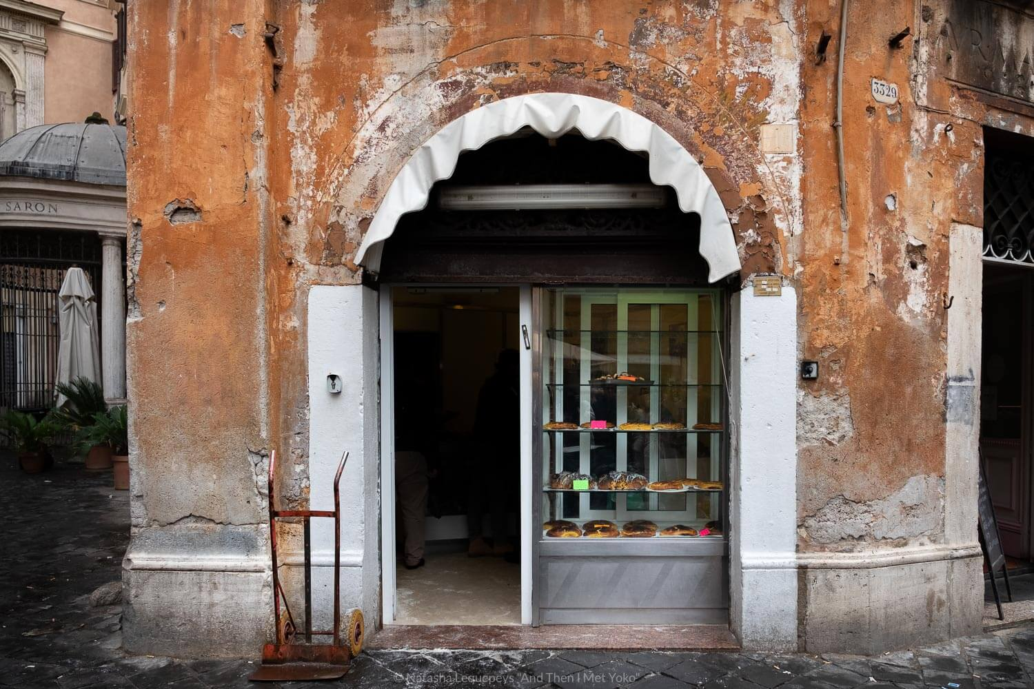 """Il Boccione bakery in the Jewish Ghetto, Rome. Travel photography and guide by © Natasha Lequepeys for """"And Then I Met Yoko"""". #rome #jewishghettorome #italy #fujifilm #travelphotography"""