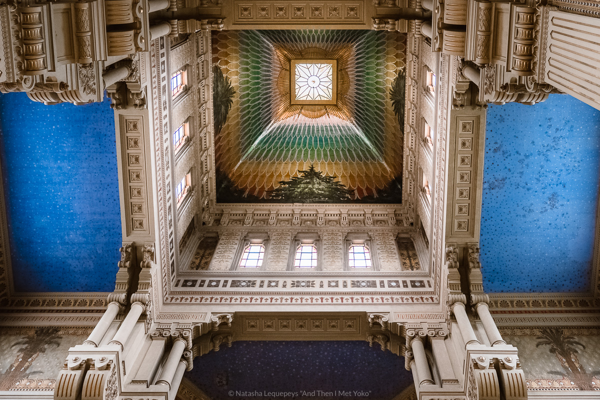 """The inside ceiling of the synagogue, Rome. Travel photography and guide by © Natasha Lequepeys for """"And Then I Met Yoko"""". #rome #jewishghettorome #italy #fujifilm #travelphotography"""