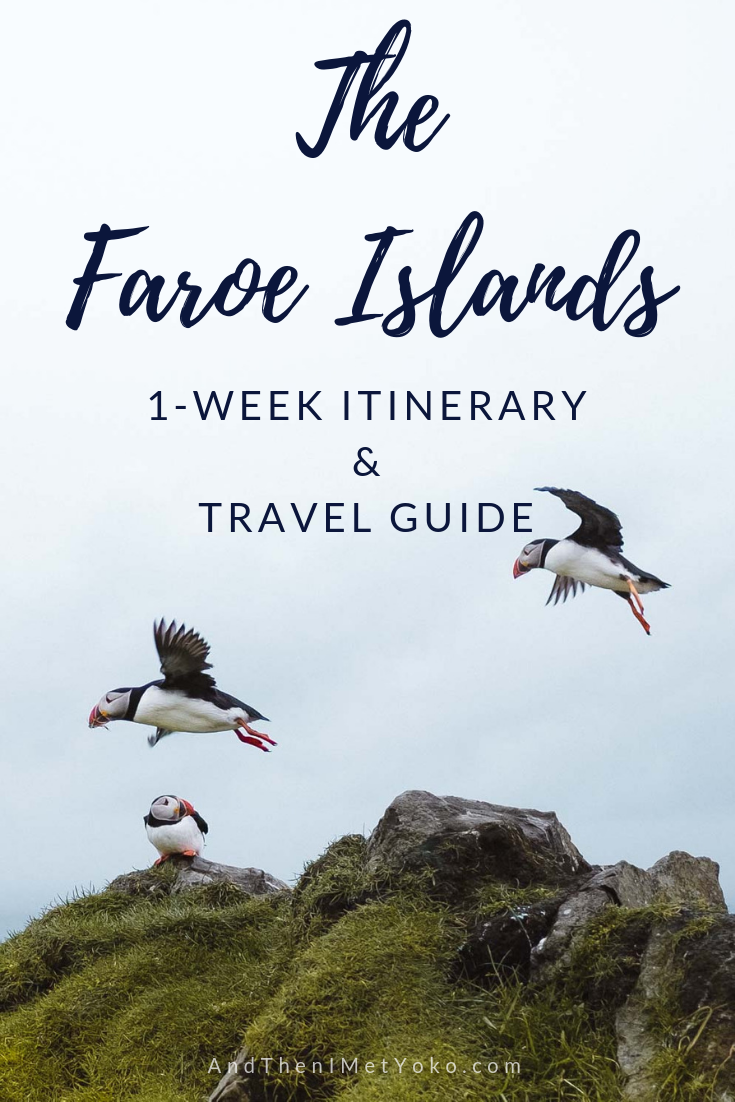 Spend one week exploring the Faroe Islands, located off the Cost of Northern Europe. This travel guide includes an itinerary, with tips and photo galleries. #faroeislands #hiking #naturalbeauty #travelguide #travelblog #travelitinerary #faroeislandsitinerary #travelphotography #landscapephotography #faroeislandsphotography #faroeislandsphotos #denmark #puffins #travelblogger #fujifilm #travel #oneweekfaroeislands #visitfaroeislands #fineartphotography #adventure