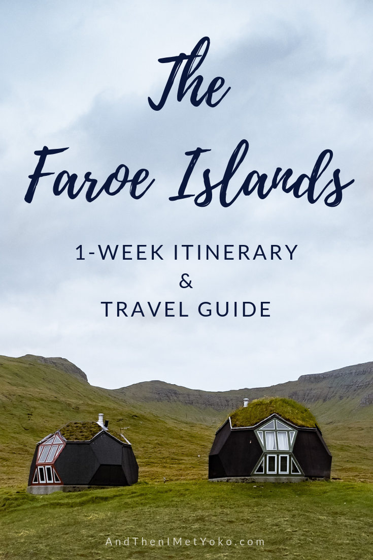 Spend 1 week exploring the Faroe Islands, located off the Cost of Northern Europe. This travel guide includes an itinerary, with tips and photo galleries. #faroeislands #hiking #naturalbeauty #travelguide #travelblog #travelitinerary #faroeislandsitinerary #travelphotography #landscapephotography #faroeislandsphotography #faroeislandsphotos #denmark #puffins #travelblogger #fujifilm #travel #oneweekfaroeislands #visitfaroeislands #fineartphotography #adventure