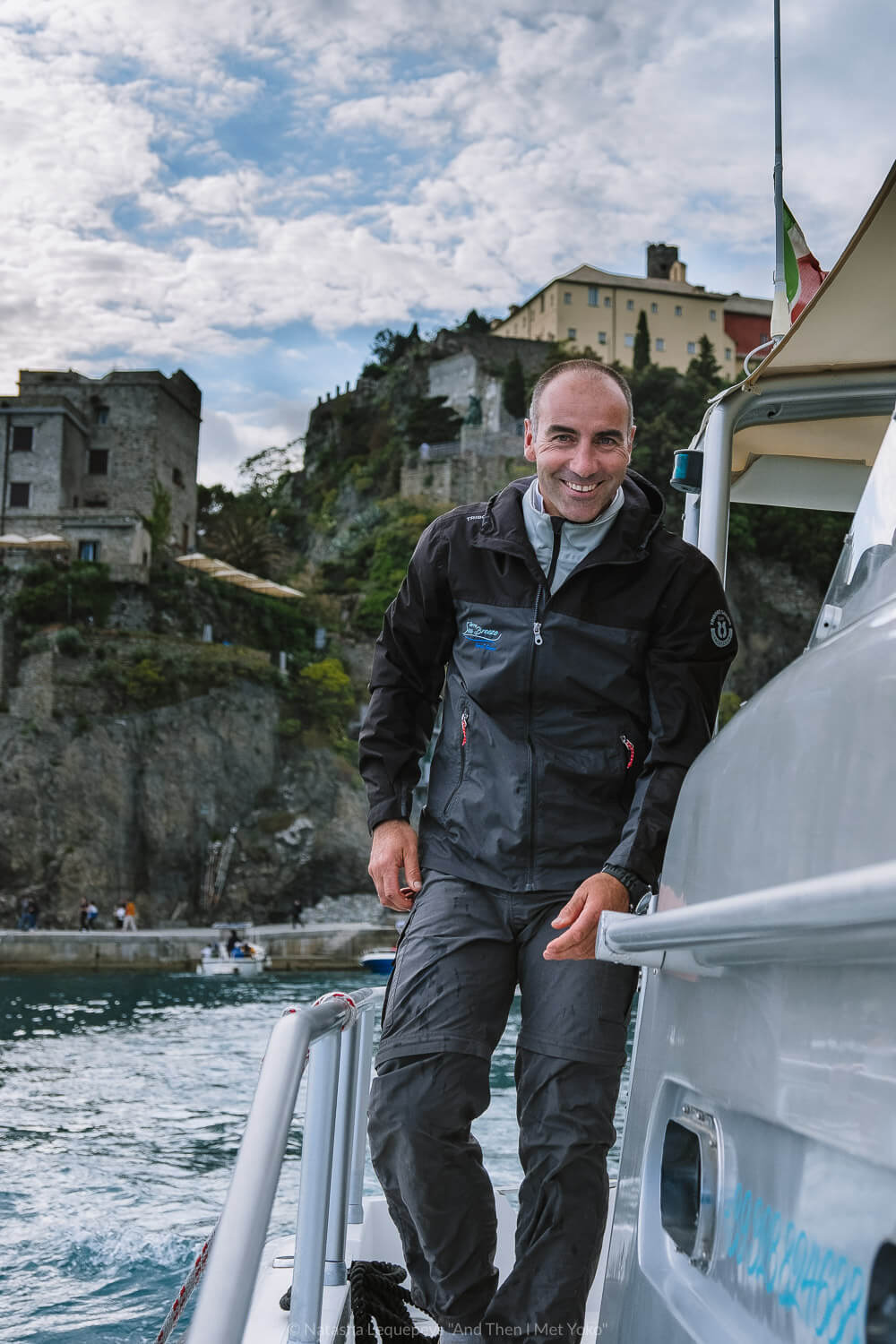 """Matteo from Sea Breeze Boat Tours. Travel photography and guide by © Natasha Lequepeys for """"And Then I Met Yoko"""". #cinqueterre #italy #travelphotography"""