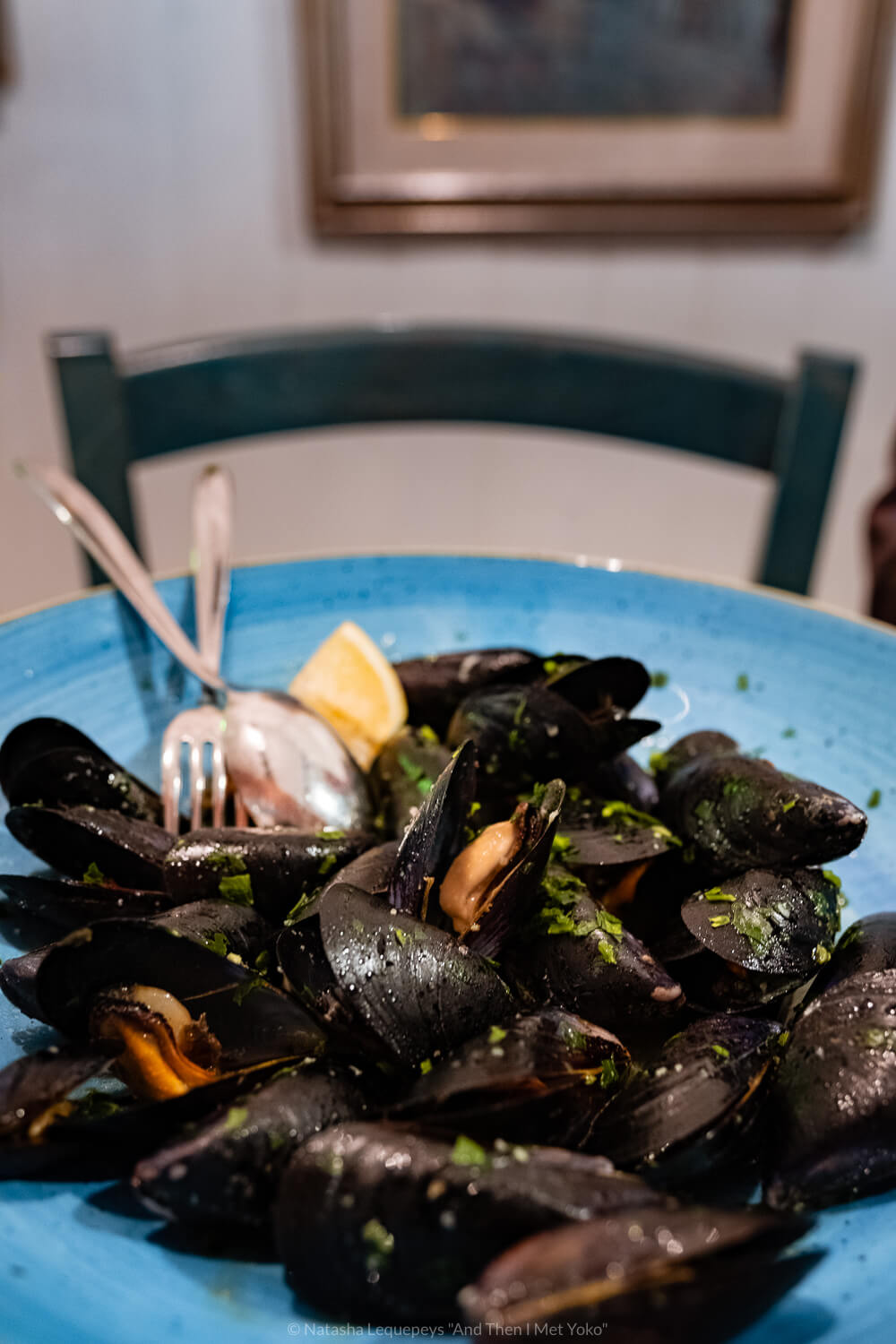 """Mussels from Ristorante Vulnetia, Vernazza. Travel photography and guide by © Natasha Lequepeys for """"And Then I Met Yoko"""". #cinqueterre #italy #travelphotography"""