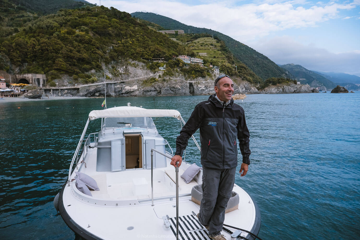 """Matteo of Sea Breeze Boat Tours, Cinque Terre. Travel photography and guide by © Natasha Lequepeys for """"And Then I Met Yoko"""". #cinqueterre #italy #travelphotography"""