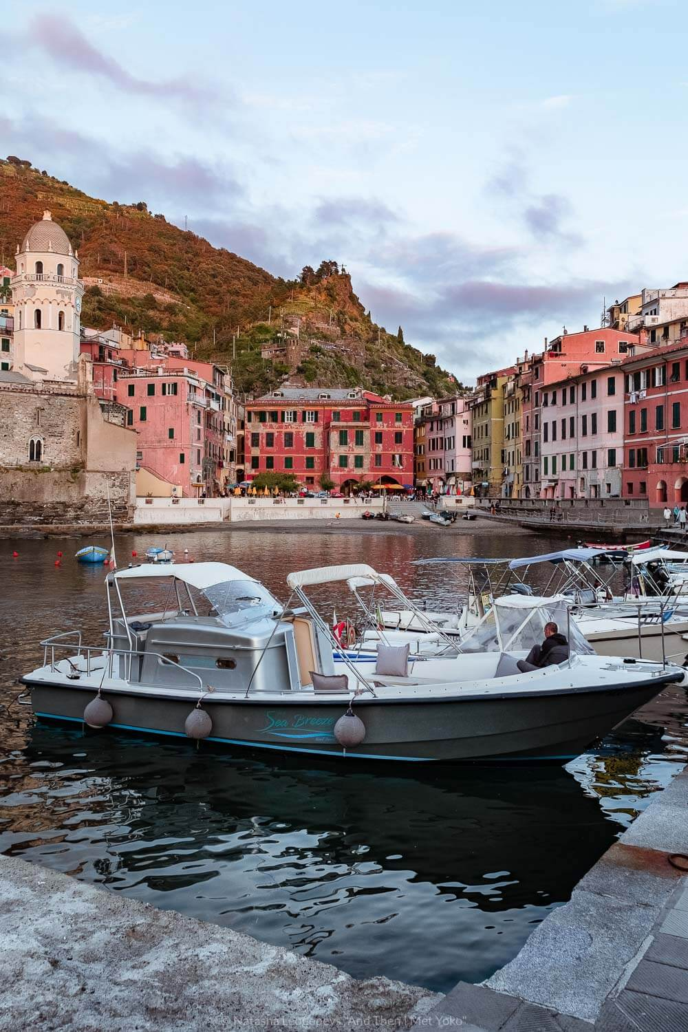 """The port of Vernazza, Cinque Terre. Travel photography and guide by © Natasha Lequepeys for """"And Then I Met Yoko"""". #cinqueterre #italy #travelphotography"""