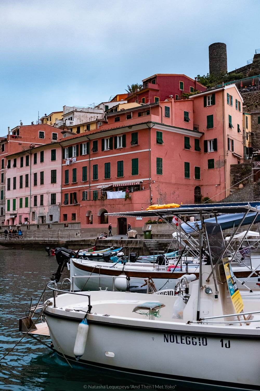 """Boats at Vernazza, Cinque Terre. Travel photography and guide by © Natasha Lequepeys for """"And Then I Met Yoko"""". #cinqueterre #italy #travelphotography"""
